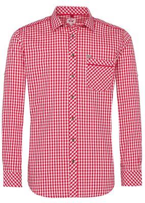 """Trachtenhemd """"Guttenberg"""" Rot"""