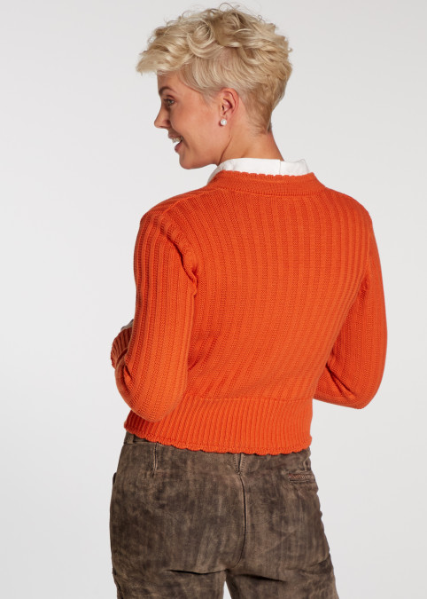 "Strickjacke ""Pfiff"", Orange Detailansicht 2"